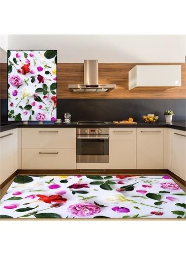 Halı Gül Yaprakları Modern Mutfak Halıları 80X150Cm Renkli